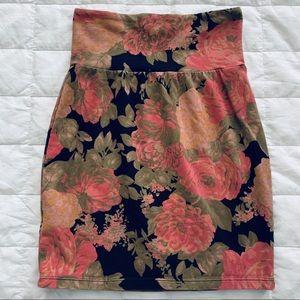 Aritzia Talula Floral BodyCon Skirt Floral XXS